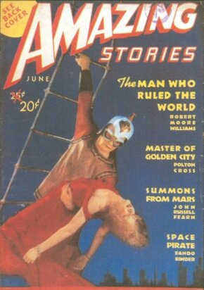 "Amazing Stories was the first science-fiction magazine. In the mid-1940s it promoted the bizarre -- and supposedly true -- ""Shaver mystery,"" which anticipated some themes of later UFO lore."
