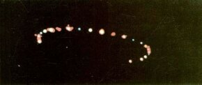 This photograph, taken on the evening of May 26, 1988, is typical of several taken in recent years of enormous, slow-moving structures with lights along the perimeter.