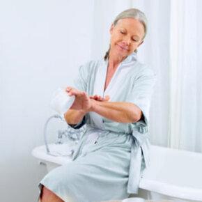 Applying topical creams like calamine lotion help control sweat rash.