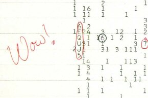 "When Jerry Ehman saw this code sequence, he circled it and wrote ""Wow!"" next to it. That's how the signal got its name."