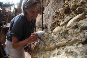 French paleontologist Marie-Antoinette De Lumley works at the archaeological prehistoric site of Caune de l'Arago in Tautavel, France. Paleoscatlogists are paleontologists who specialize in the world of fossilized poop.