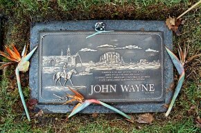 Actor John Wayne's grave was unmarked for almost 20 years.