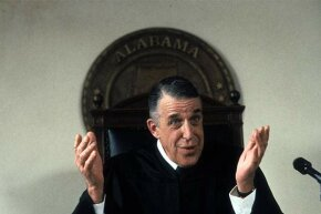 Fred Gwynne plays against type as a judge in the 1992 film 'My Cousin Vinny.'