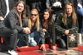 Roy Orbison's widow Barbara and sons pose at his installation into the Hollywood Walk of Fame in 2010. After more than 20 years, the family still hasn't gotten a headstone for the late singer.