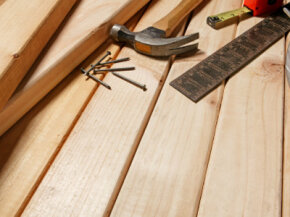Untreated lumber has two advantages -- it's less expensive than treated lumber and you don't have to worry about harmful chemicals.­ See more home construction pictures.