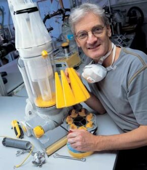 James Dyson with the Root Cyclone™ DC07