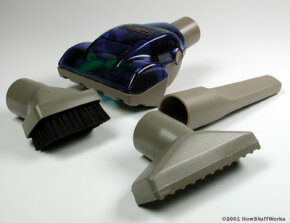 Vacuum cleaner attachments serve to concentrate the flow of air as it enters the vacuum. Since suction depends on the size and shape of the passage, different attachments are better suited to different cleaning jobs.