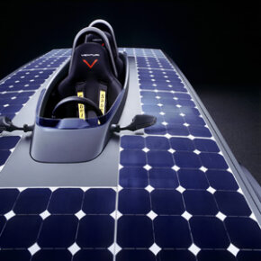A film embedded with nano-prisms covers Astrolab's solar cells, maximizing their ability to capture energy from the sun.