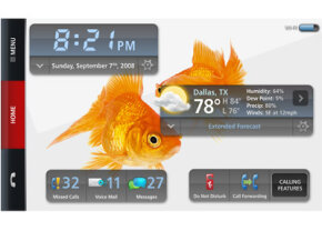 The Verizon Hub's base has a 7-inch touch screen that can display information such as the time, date and weather report.