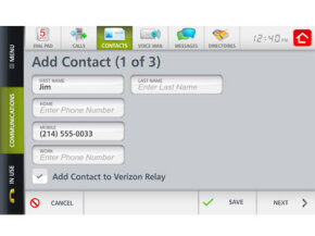With the Verizon Hub, you can manage up to 128 contacts, each with up to three different phone numbers.