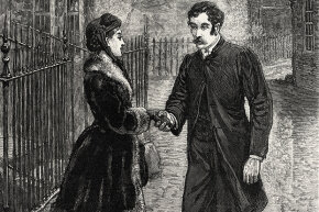 Let's hope she initiated this hand contact; otherwise, this gentleman could be considered incredibly forward.