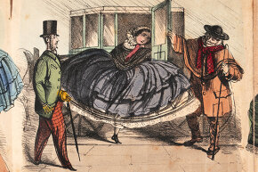 A proper Victorian woman would leave calling cards with her friends when she planned a visit. She typically wouldn't struggle to get out of the carriage to drop them off herself, however.
