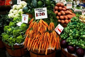 Movin' on up. Food prices are on the rise with gasoline. See more pictures of vegetables.
