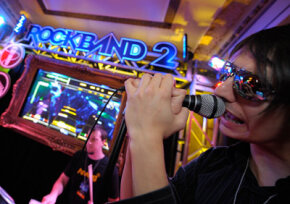 "Video games like ""Rock Band"" offer realistic graphics. Video-game designers need graphics skills and knowledge of computer programming. See more video game system pictures."