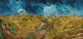 Wheatfield with Crows 20x40-1/2 inches), hangs in Amsterdam's Van Gogh Museum.
