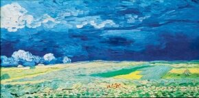Vincent van Gogh's Wheatfield Under Thunderclouds (oil on canvas, 19-3/4x39-1/2 inches) hangs in Amsterdam's Van Gogh Museum.