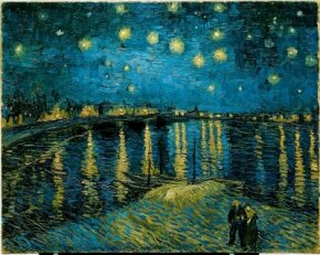 Vincent van Gogh's Starry Night over the Rhône is an oil on canvas (28-1/2x36-1/4 inches) that is housed in the Musée d'Orsay in Paris.
