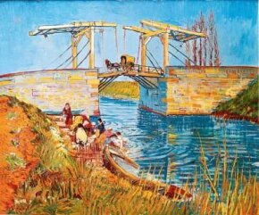 Vincent van Gogh's Langlois Bridge at Arles with Women Washing is an oil on canvas (21-1/4 25-1/2 inches) that is housed in the Kröller-Müller Museum in Otterlo,Netherlands.