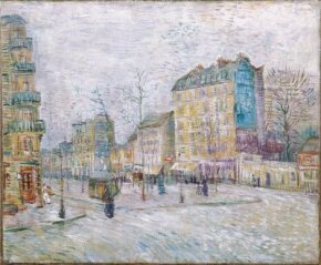Vincent van Gogh's Boulevard de Clichy is an oil on canvas (18 x 21-3/4 inches) that is housed in the Van Gogh Museum in Amsterdam.