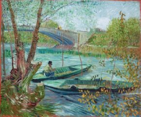 Vincent van Gogh's Fishing in the Spring, the Pont de Clichy (Asnières) is an oil on canvas (19-1/4 x 22-3/4 inches) that is housed in the Art Institute of Chicago.