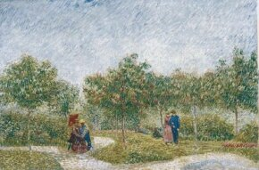 Vincent van Gogh's Courting Couples in the Voyer d'Argenson Park at Asnières is an oil on canvas (29-1/2 x 44-1/4 inches) that is housed in the Van Gogh Museum in Amsterdam.