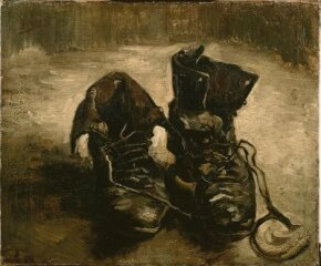 Vincent van Gogh's A Pair of Shoes is an oil on canvas (14-3/4 x 17-3/4 inches) that is housed in the Van Gogh Museum in Amsterdam.