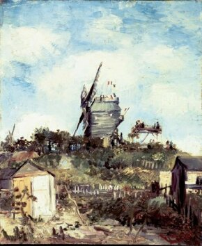 Vincent van Gogh's Le Moulin de la Galette is an oil on canvas (18 x 15 inches) that is housed in the Glasgow Art Gallery and Museum.