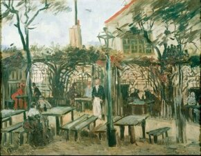 Vincent van Gogh's Terrace of a Café on Montmartre (La Guinguette) is an oil on canvas (19-1/4 x 25-1/4 inches) that is housed in the Musée d'Orsay in Paris.