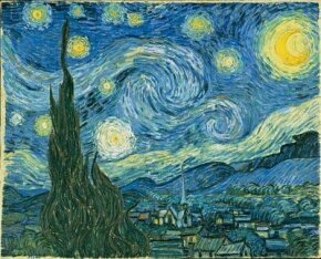 Vincent van Gogh's The Starry Night is one of the paintings of modern art. See more pictures of van Gogh paintings.