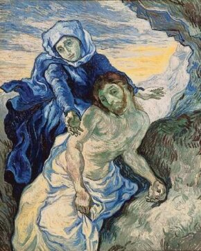 Pietà (After Delacroix) 16-1/2x13-1/2 inches), found at the Van Gogh Museum in Amsterdam.