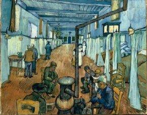Vincent van Gogh's Ward of Arles Hospital (oil on canvas, 28-1/4x35-1/4 inches) is part of the Collection Oskar Reinhart 'Am Römerholz,' Winterthur, Switzerland.