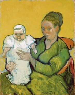 Vincent van Gogh's Madame Roulin with her Baby Marcelle (oil on canvas, 36-1/4x29 inches) hangs in the Philadelphia Museum of Art.