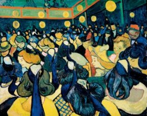 The Dance Hall by Vincent van Gogh, is housed in the Musée d'Orsay in Paris.