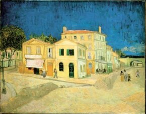 The Yellow House by Vincent van Gogh, hangs in the Van Gogh Museum in Amsterdam.