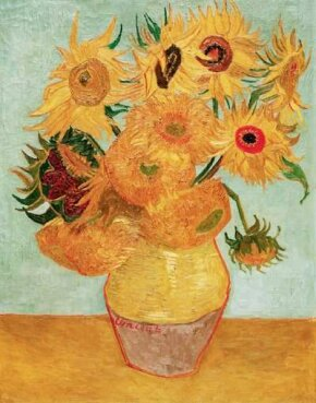 Still Life: Vase with Twelve Sunflowers 36-1/4x28-1/2 inches), can be found in the Philadelphia Museum of Art.