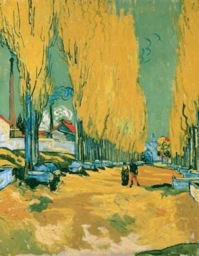 Les Alyscamps by Vincent van Gogh, is part of the Collection of Basil P. and Elise Goulandris, Lausanne.