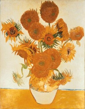 Vincent van Gogh's Sunflowers 36-1/2x28-3/4 inches) Gallery, London.