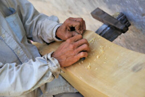 Carpentry is one of many professions you can study at vocational school.