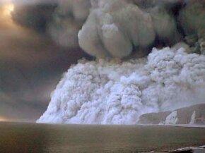 pyroclastic flow from Mount Oyama