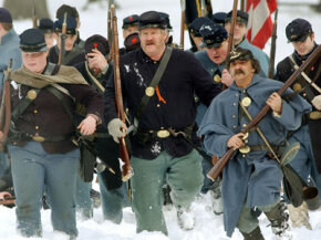 Reenactors are dedicated enough to perform in harsh conditions for the sake of getting the full experience.