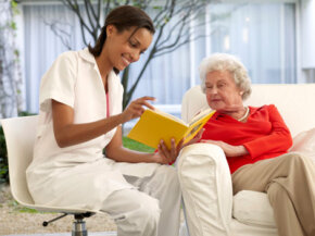 Nursing home residents need mental stimulation to keep their minds healthy -- that's where volunteers come in.