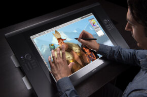 The Cintiq 24 HD touch features multi-touch technology.