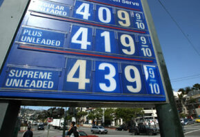 A gas station in San Francisco shows a cost of more than $4 per gallon for regular gas on May 5, 2008. See pictures of alternative fuel vehicles.