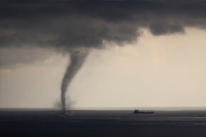 Just because a waterspout forms over water does not mean you should feel safe on land.