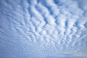 Nothing but mackerel skies!