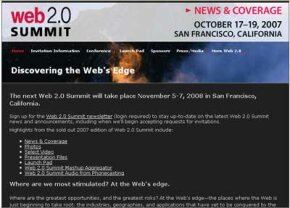 Ironically, the Web page for the 2007 Web 2.0 summit works more like a Web 1.0 page.