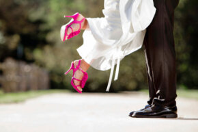 Even if you're the only one who may see them, make your wedding shoes special anyway.