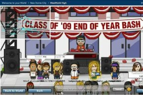 WeeWorld users control their avatars to chat, socialize and play games.