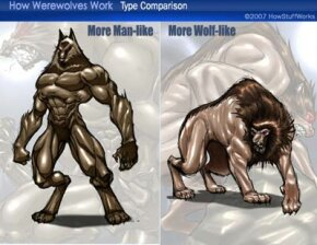 Some werewolves are more man than wolf, while others are more wolf than man.
