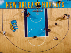 An NBA court wouldn't be the same without painted-on graphics.
